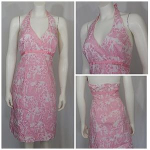 Lilly Pulitzer Run for the Roses Rhino Dress pink